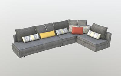 沙发3D展示