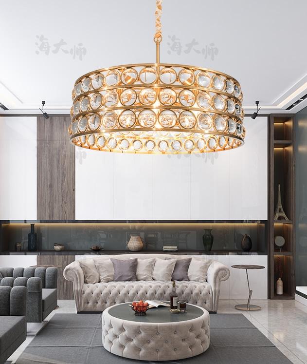 碧桂园凤凰城–XJDS-轻奢后现代客餐厅卧室水晶吊灯